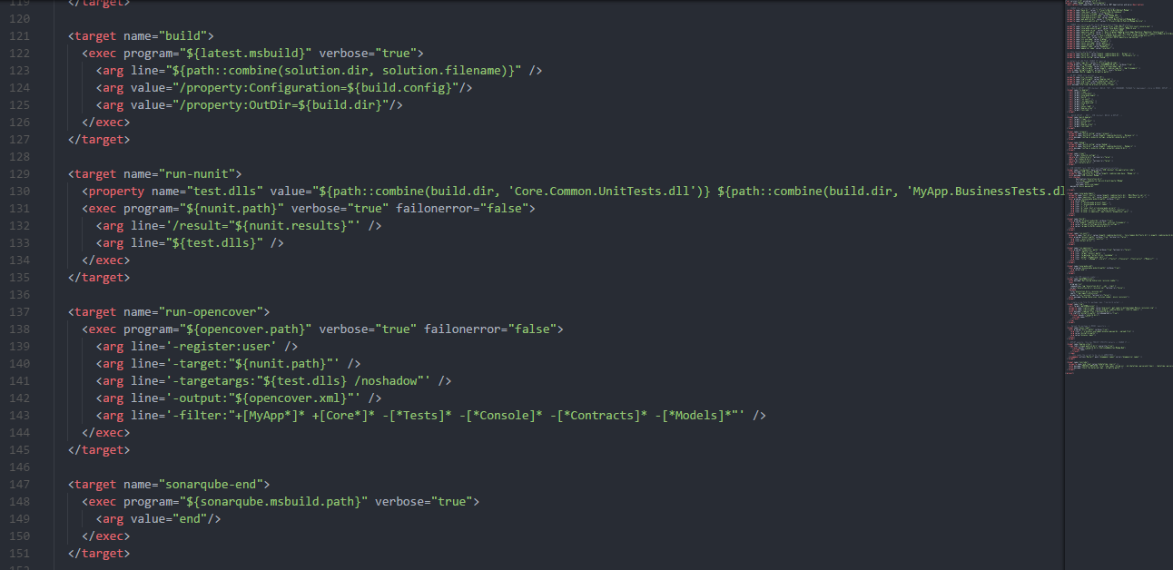 Sample NAnt script for CI build system